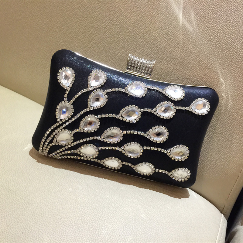 ФОТО New Vintage Women's Jewelry Clutch Bags Handmade Beaded Gem Lady Evening Bag Wedding Party Banquet Purses 3 Colors Availble
