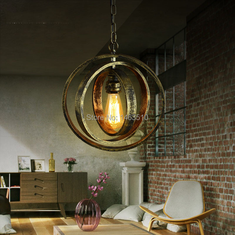 High Quality Old Wood Pendant Light LED Bar Cafe Bedroom