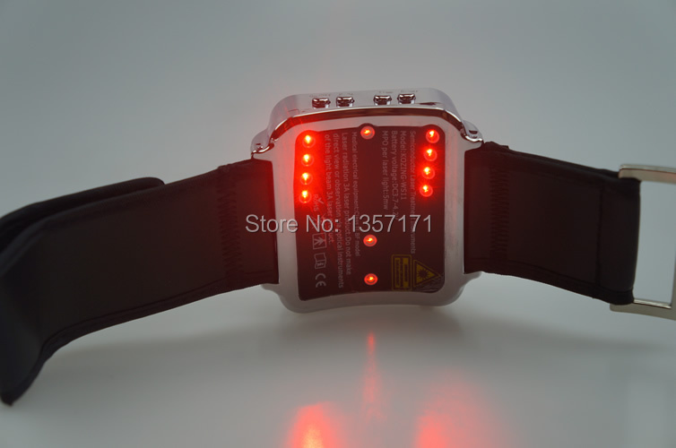 Cold laser acupuncture treatment device is the fastest way to lower blood pressure naturally blood pressure regulator laser acupuncture laser wrist watch laser treatment therapeutic instrument