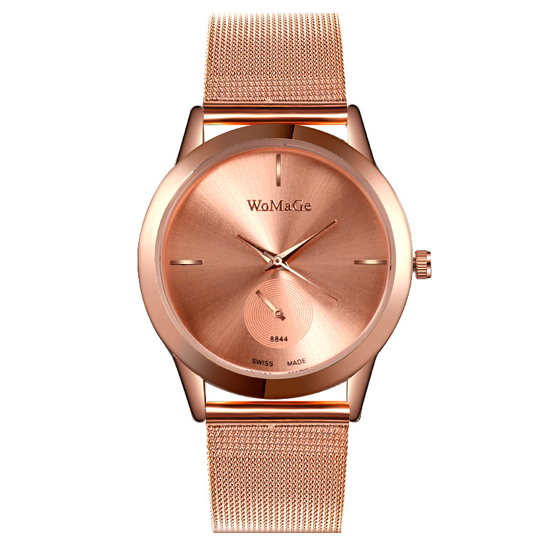 Fashion Women Rose Gold Flower Rhinestone Wrist Watches Luxury Casual Female Quartz Watch Clock Relogio Feminino Women Watch  1
