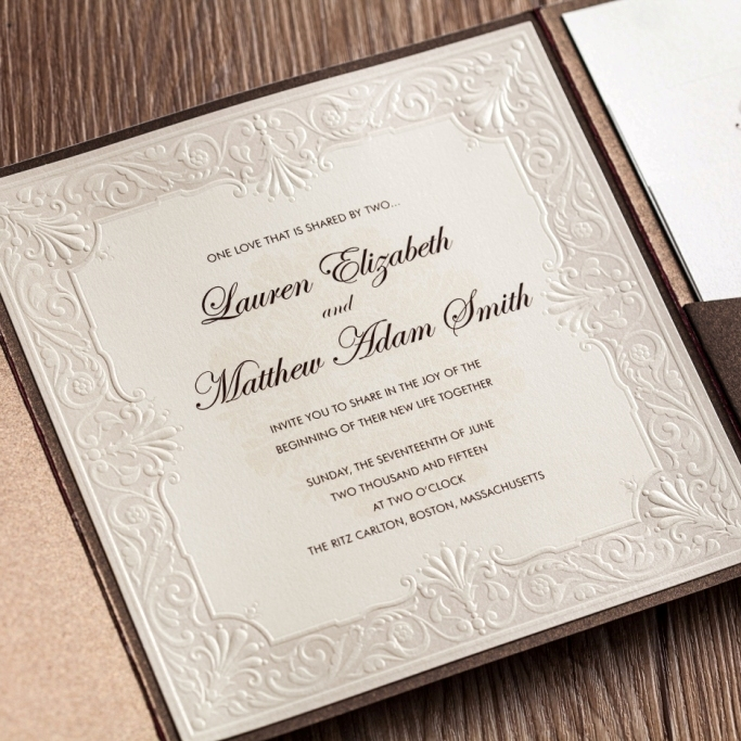 Wishmade 50pcs Royal Wedding Invitation Card Kit With Thank You Rsvp
