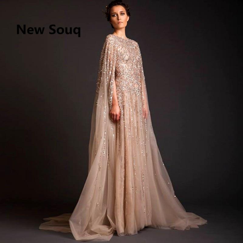 Lebanon Robe De Soiree Longue Evening Dresses Beads Saudi Arabia Long Prom Dress Abaya Dubai Kaftan Marocain Abendkleider