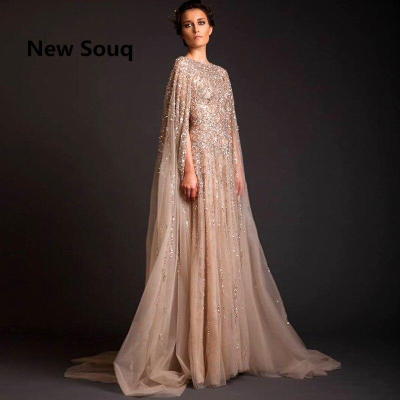 Libanon Robe De Soiree Longue Abendkleider Perlen Saudi-arabien Lange Prom Kleid Abaya Dubai Kaftan Marocain Abendkleider