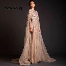 Libanon Robe De Soiree Longue Avondjurken Kralen Saudi Arabië Lange Prom Jurk Abaya Dubai Kaftan Marocain Abendkleider