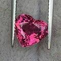 Роскошный сердце турмалин расшатанный камень безупречный высокой четкости розовый турмалин кольцо, кулон, вес 2.2ct размер 7.8*8.5 мм