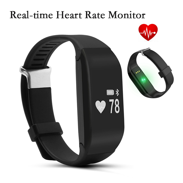 Smart Bracelet H3 Wristband Heart Rate Monitor Bluetooth 4.0 Passometer Sports Fitness Tracker Smartband For IOS Android phones