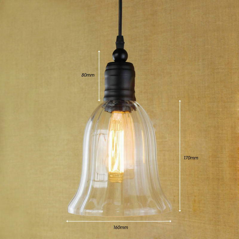 Hanging clear glass horn shade Pendant Lamp with Edison Light bulb Kitchen Lights and Cabinet Lights hanging clear glass horn shade pendant lamp with edison light bulb kitchen lights and cabinet lights