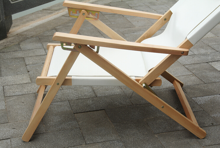 Ajustable y plegable reclinable Silla de playa chaise lounge Telas ...