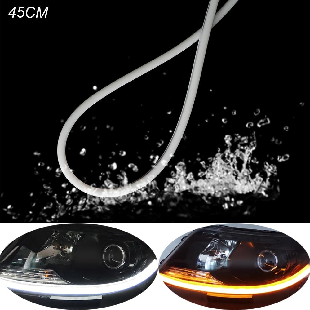45 cm LED DRL Clignotant Qui Coule Feux Diurnes Pour Mercedes W212 AMG Séquentielle Clignotants Flexible DRL LED Bande lumière