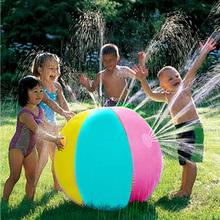 Inflatable PVC Water Spray Beach Ball for Outdoor Lawn Summer Game Children's Toy Ball Water Jet Ball inflatale beach ball water walking ball inflatable bubble water ball