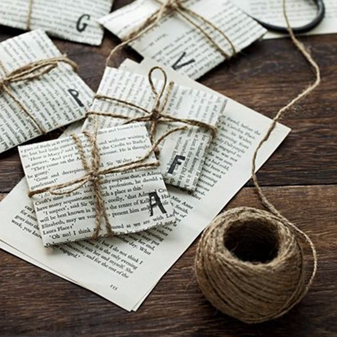 Useful 30m jute twine natural sisal rustic tags wrap for Sisal decoration