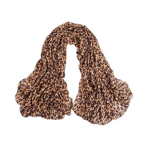 Women Fashion Long Leopard Shawl   Scarf     Wrap   Lady Chiffon   Wrap   Stole Gift