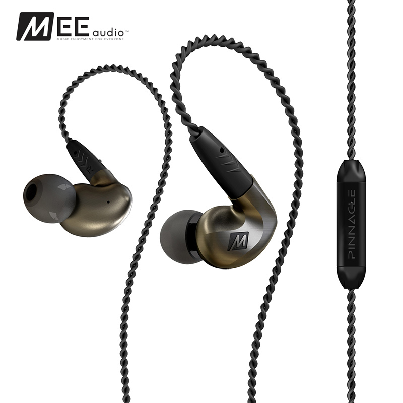 High Quality MEE-audio Pinnacle P1 Wired In Ear Headphones Audiophile Earphones With Detachable Cables Acoustic Headset With Mic audio technica audiophile open air headphones