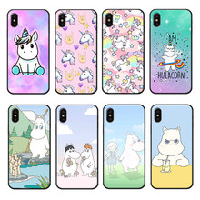 Hippo Phone Case for iphone7 8 Plus Animal Cute Luxury Silicone Cover for iPhone8 6 6s Plus X XR XS Max TPU Phone Case(China)