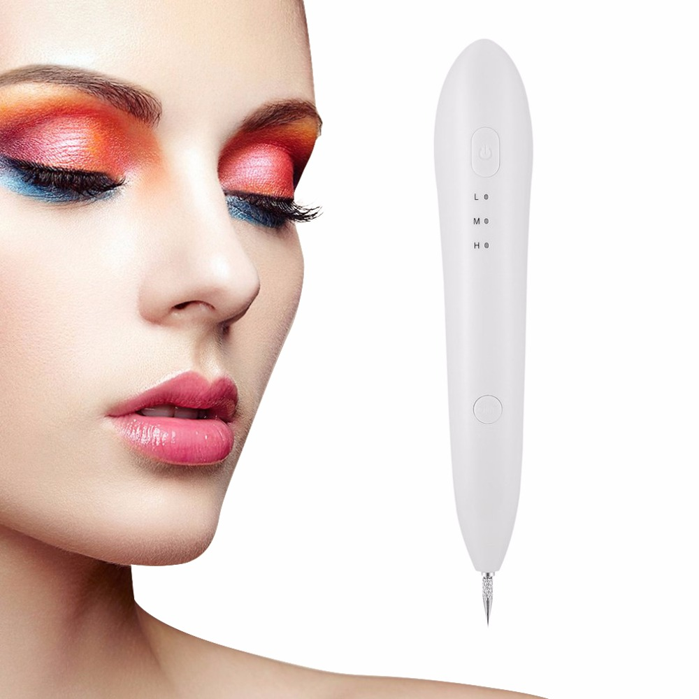 Mini Portable Mole Freckle Spot Removal Pen USB Rechargeable Electric Face Body Blemish Remover Skin Care Tool Beauty Instrument