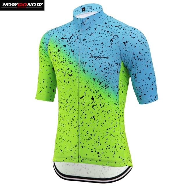 2019 רכיבה על אופניים ג 'רזי גברים ניאון ירוק כחול מותג אופני בגדי mtb כביש פרו מירוץ מלא לייקרה עם רעיוני רצועת כיס