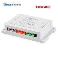 Sonoff 4ch R2 Smart Switch 4 Kanäle 433MHz 2,4G Wifi Fernbedienung Smart automation module 10A Hause Geräte