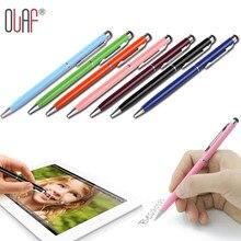 Емкостный планшетный стилус встроенный шариковая металл сенсорный телефона экран ноутбук ручка
