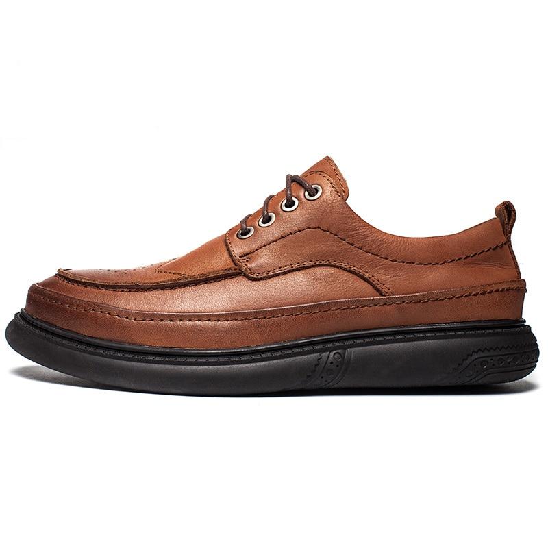 Dos Livre Handmade Formal De Ar Up Sapatos Dropshipping Preto Homens Ao marrom Sapatas Respirável Couro Macio Natural Lace Oxford Retro xtFFZ7