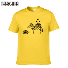 TARCHIA Animal Print Men's T-shirts Cartoon Summer Fashion Men T Shirts Hip Hop Short Sleeve Tees Plus Size Cotton Tees Tops