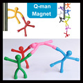 9 PCS or 6 pcs Q-MAN Bendable man Magnetic tools Figure Office desktop game MINI Fun Novelty toy for children gift paper parts