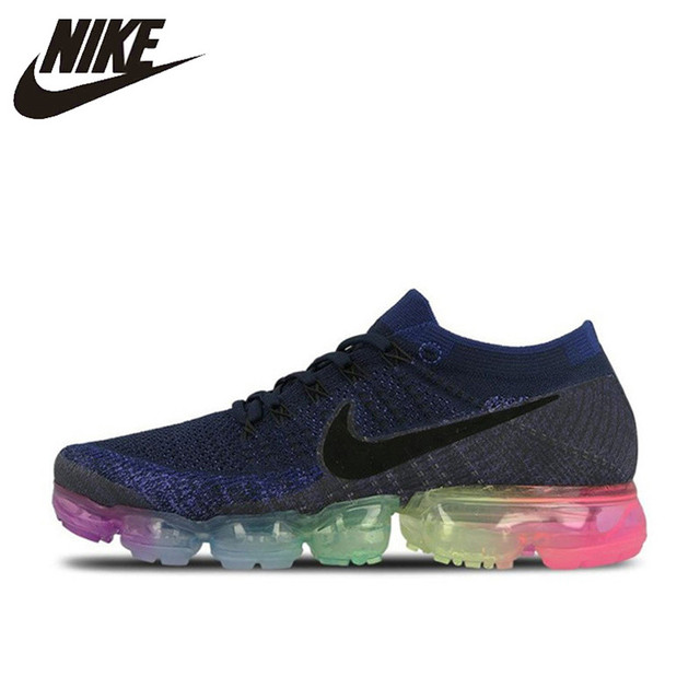 new arrival da065 b67a2 US $69.99 30% OFF|Original Authentic Nike Air VaporMax Be True Flyknit  Men's Running Shoes Outdoor Sneakers Designer Athletic 2018 New Arrival-in  ...