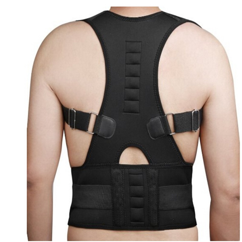 Männer Frauen Magnetband Orthopädische Magnetfeldtherapie Korsett Zurück Körperhaltung Korrektor Schulter Rückenstütze Haltungskorrektur