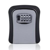 Portable Lock Padlock Key Box Four Digits Home Password Key Box Wall Lock Password Storage For Home Door Hardware Accessories