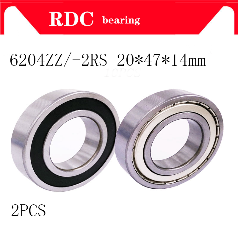 2PCS 6204ZZ 6204 6204 2RS 20x47x14mm Mini Ball Bearing Miniature Bearing Deep Groove Ball Bearing цена