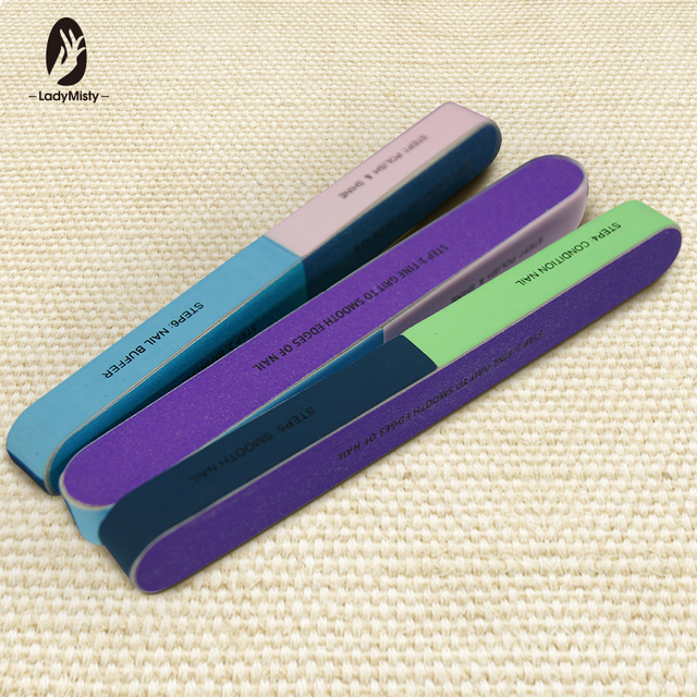 e99e0226401 Ladymisty 1PCS SET Six-sided Polishing Files Nail Tool Creative Printing Nail  File Sanding Professional Nail File