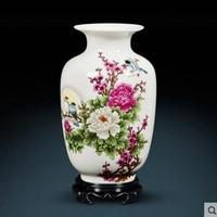 Ceramics small vases home decoration flower arrangement living room TV cabinet wine cabinet decorations crafts furnishings