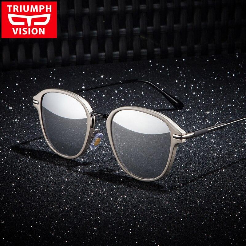 9584a1f11486a TRIUMPH VISION Noir Polarisées Mâle lunettes de Soleil Marque Designer  Conduite Lunettes de Soleil Pour Hommes Shades UV400 Protection Oculos 2017