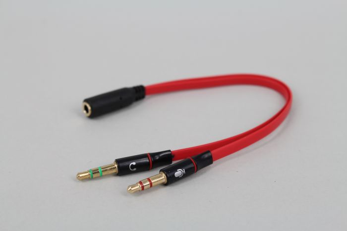 NEUE 3,5mm Stereo Splitter Audio Stecker auf Kopfhörer Headset + ...