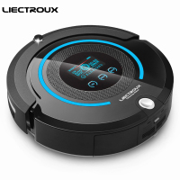 LIECTROUX A338 FBA Multifunction Robot Vacuum Cleaner Sweep Vacuum Mop Sterilize LCD Schedule Virtual Blocker Self