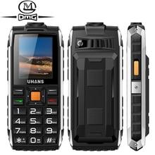 Uhans V5 Russian keyboard shockproof mobile phone Power bank Dual sim 2500Mah Telephones Big box speaker Flashlight cell phones