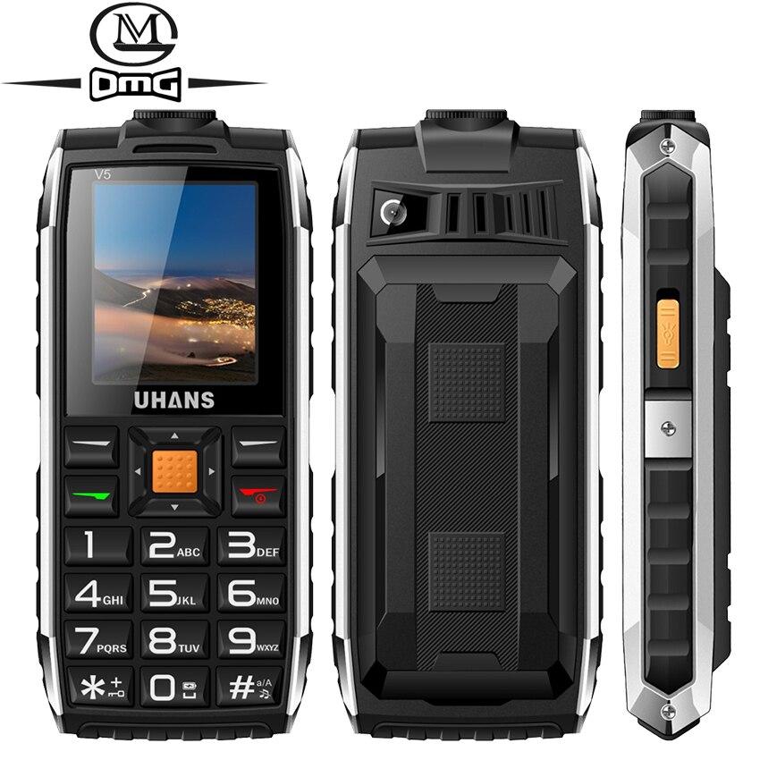Uhans V5 Russian keyboard shockproof mobile phone Power bank Dual sim 2500Mah Telephones Big box speaker
