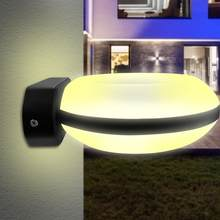 LED Warm White Waterproof Wall Sconce Light Lamp Porch Home 18W 85-260VAC Wall Light Indoor Outdoor(China)