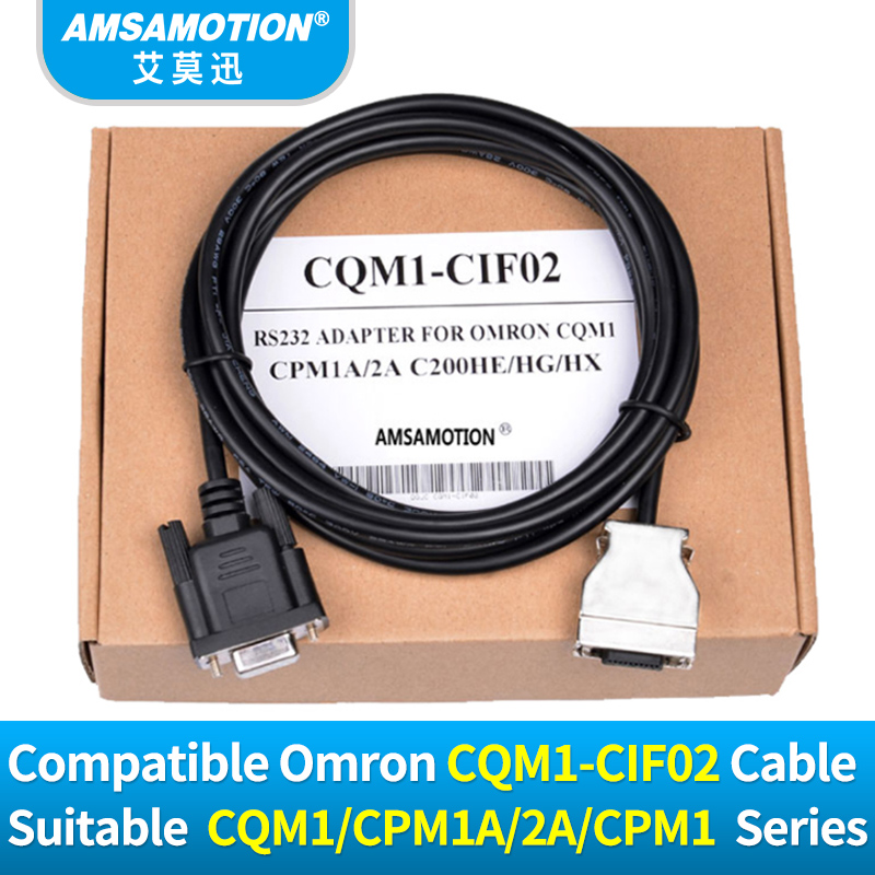 CQM1-CIF02 Series Cable RS232 Adapter for Omron CPM1/CPM1A/2A/CPM1AH/CQM1/C200HS/C200HX/HG/HE PLC Programming Cable