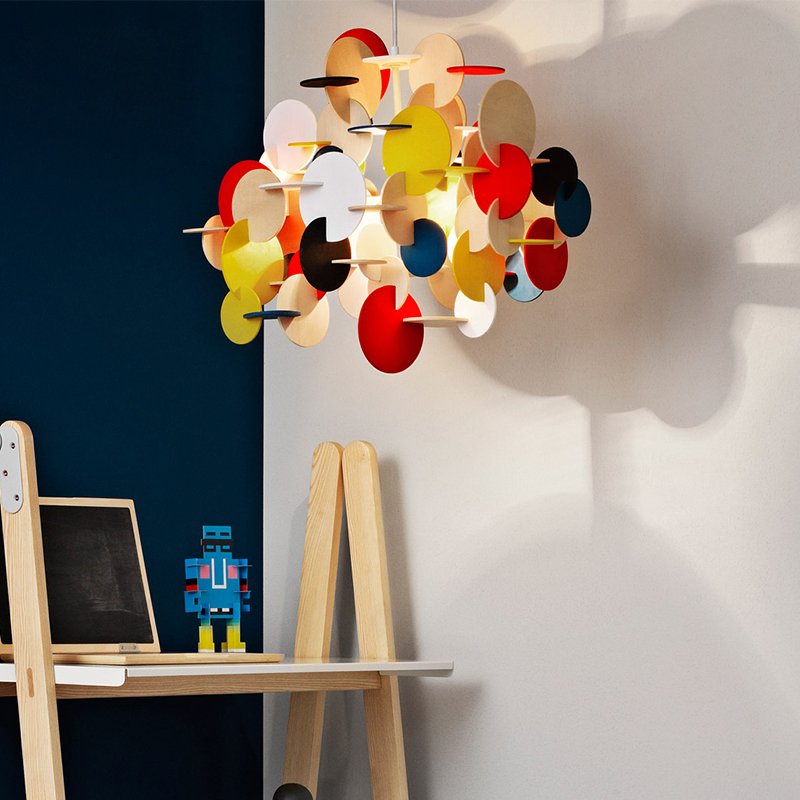 Building Blocks Pendant Lights Color Cartoon Kids Room child Boys Room Bedroom Light Creative Wood Pastoral Nordic droplight E27