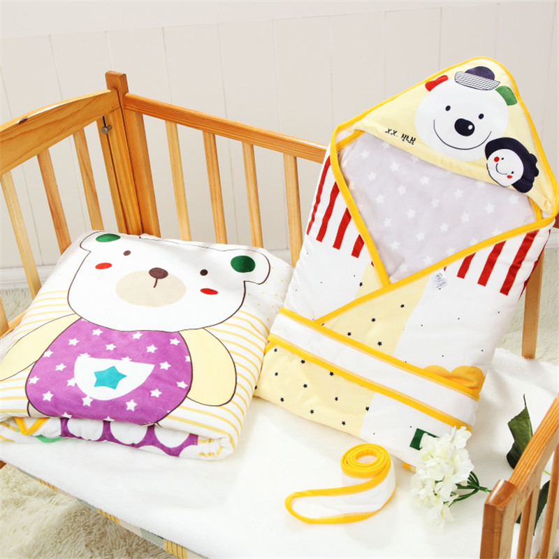 ФОТО 2016 warm baby blankets newborn envelope 90*90 cartoon printed cotton baby gift parisarc holds baby bedding swaddle wrap m164