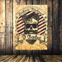 Barbershop Poster Banners Hanging Pictures Art Waterproof Cloth hair salon beauty barbersshop wall Decor
