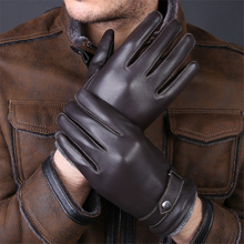 2018 High-Quality New Genuine Leather Gloves Fashion MenS Sheepskin Thick Warm Winter Men LL006-5