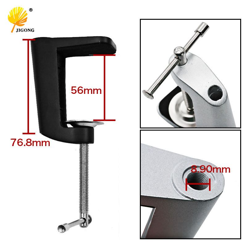 LED clincher desk lamp clip base tube lamp adjustable clip clamp to lamps accessories DIY freeshipping glass clip base ns4802