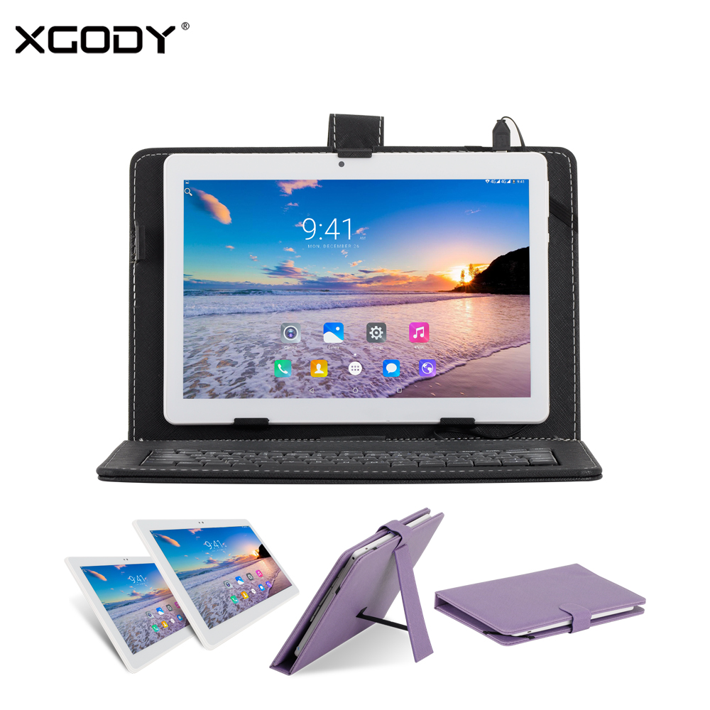 Origional XGODY B960 10 Inch Tablet PC 3G Unlock Dual Sim MTK Quad Core 1+16G Android 6.0 1280*800 Phone Call with Keyboard Case xgody b960 10 inch 3g tablet pc android 6 0 mtk quad core 1g ram 16g rom 1280 800 phablet dual sim card wifi phone call tablet