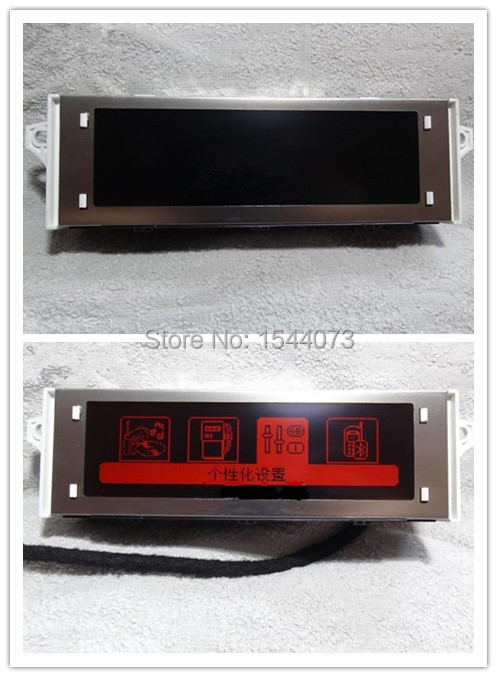 Original Part Red Screen Pupport USB Bluetooth 4 menu Display Red monitor 12 pin for Peugeot 307 407 408 citroen C4 C5