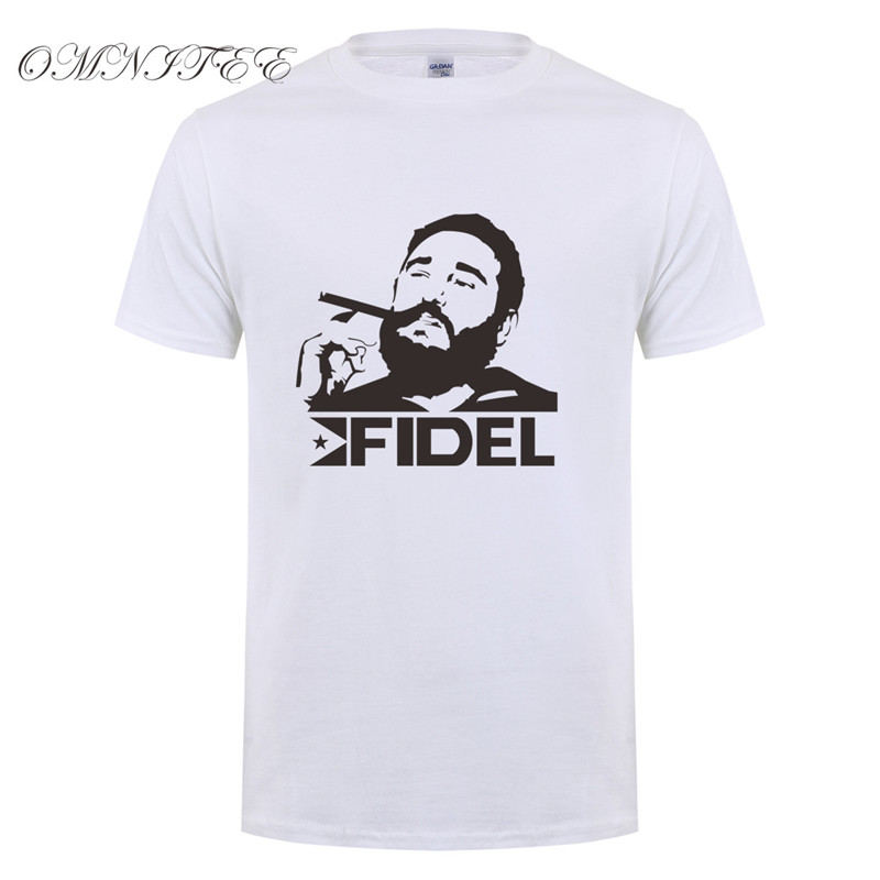 Summer Men T shirt Cuba Kuba Avana Revolution Fidel Castro T-Shirts Short Sleeve Cotton Casual Men Tees Top OT-554