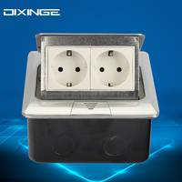 EU Double Standard Duplex Socket Export Corridor German Socket Silvery PC Panel Socket 16A B146 L131