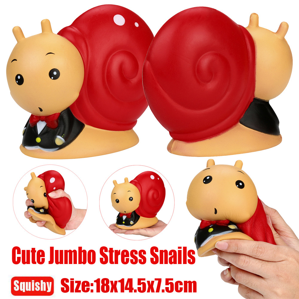 Funny Red Nails Slow Rising Soft Cute Squeeze Jumbo Stress Reliever Soft Snails Doll Scented Slow Rising Toys Gifts Dropshipping