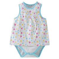 Bebini Sweet Baby Girl one-piece Bodysuits newborn infant girl climbing clothes toddler top quality jumpsuits Blue