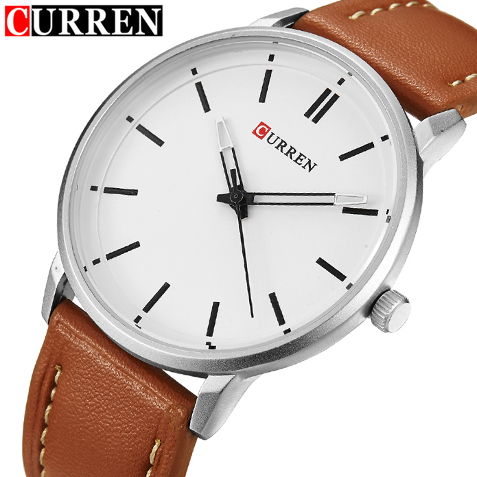 New Fashion Curren Luxury Brand Men Watches Men's Quartz Hour Clock Male Business Casual Leather Wrist Watch relogio masculino genuine curren brand design leather military men cool fashion clock sport male gift wrist quartz business water resistant watch
